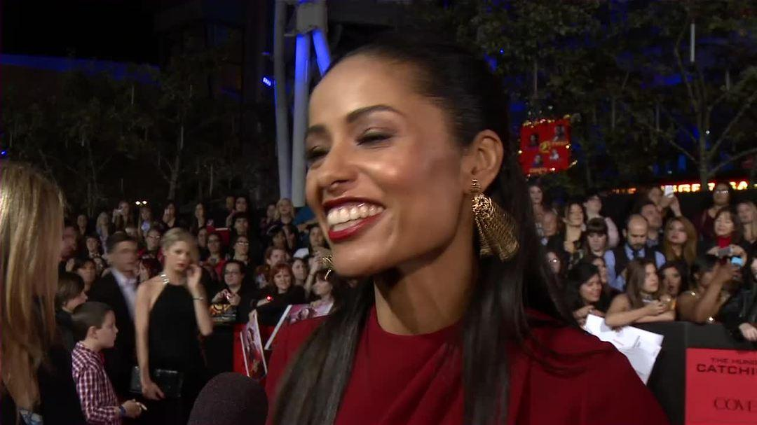 "The Hunger Games Catching Fire LA Premiere Interview - Meta Golding - ""Enobaria"""