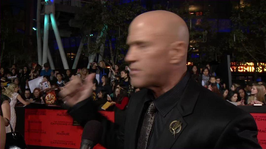 "The Hunger Games Catching Fire LA Premiere Interview - Bruno Gunn - ""Brutus"""