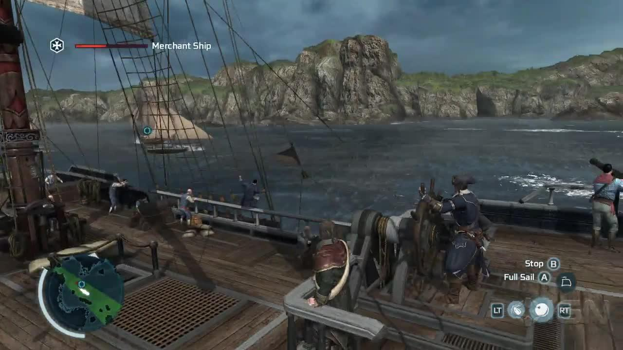 Assassin's Creed III Small Boat Battle - Gameplay
