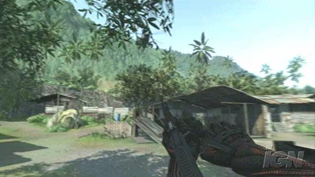 Crysis PC Games Gameplay - Shoot the Helicopter (no sound)