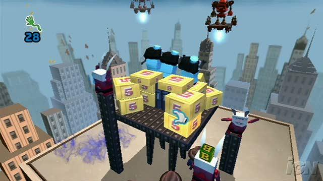 Boom Blox Bash Party Nintendo Wii Gameplay - Box Of Logs Video