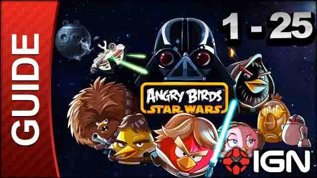 Angry Birds Star Wars Tatooine Level 1-25 3 Star Walkthrough