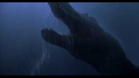 Jurassic Park III - drive off spinosaurus