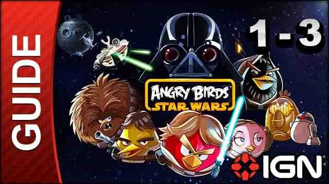 Angry Birds Star Wars Tatooine Level 3 3-Star Walkthrough
