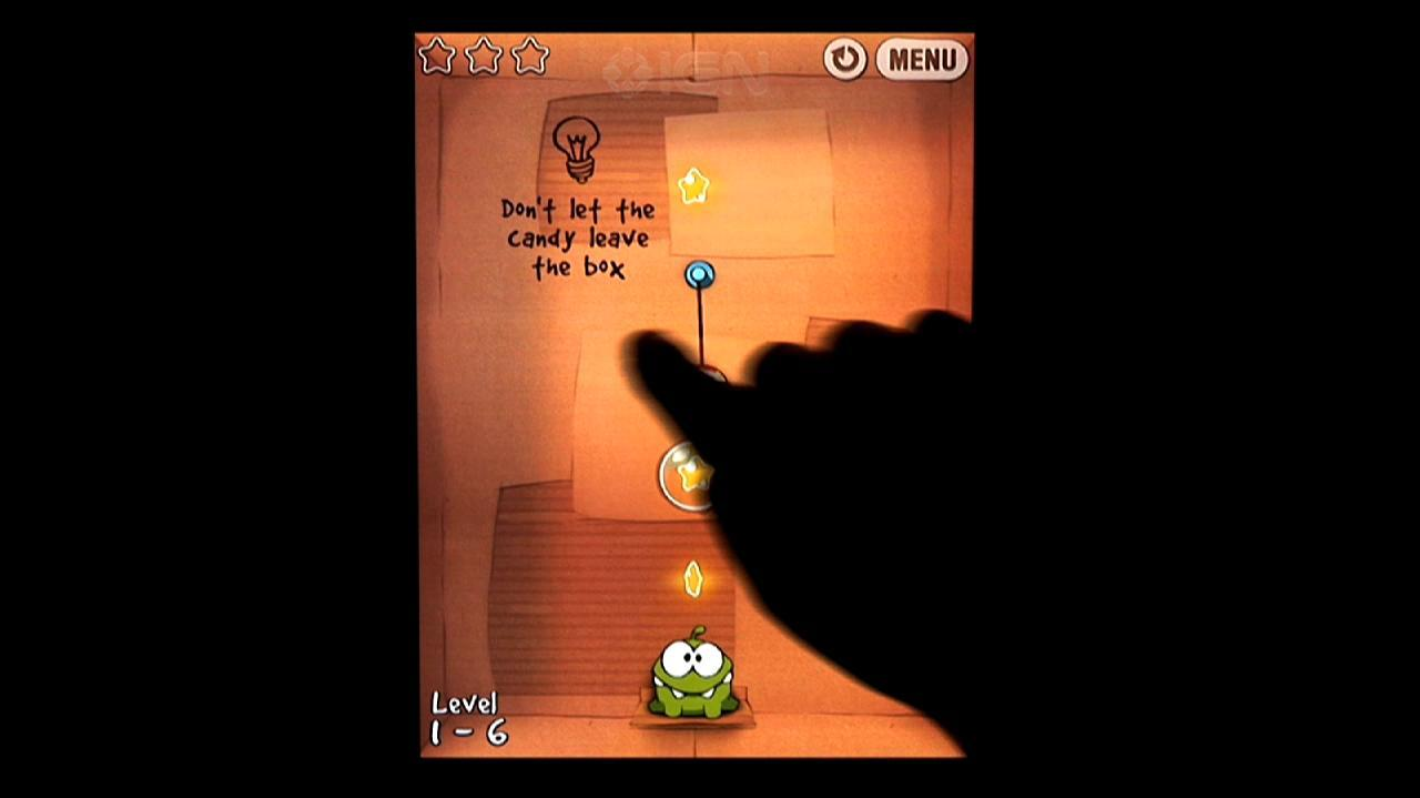 Cut the Rope How to Get All Cardboard Box Stars in Cut the Rope