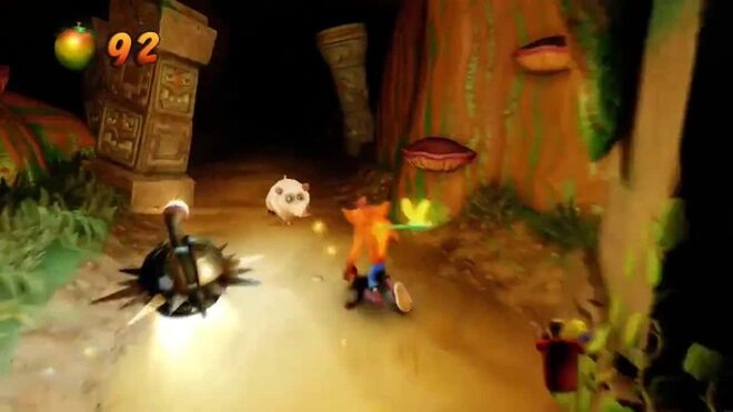 Crash Bandicoot 2 Walkthrough - Warp Room 5 Night Fight