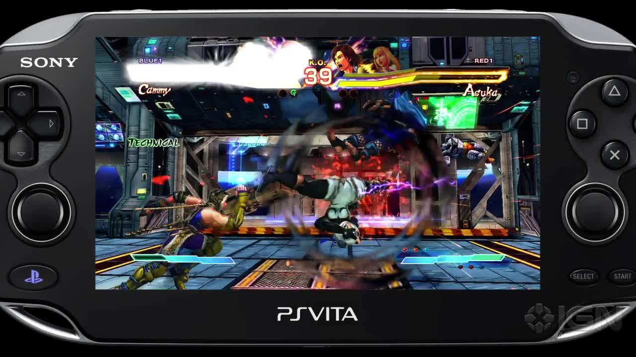 Street Fighter x Tekken Vita Street Fighter Gameplay