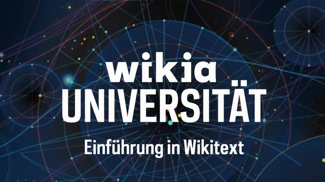 Wikia-Universität - Einführung in Wikitext