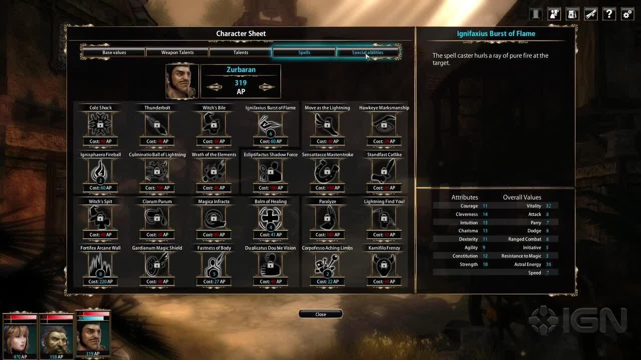 Blackguards - Progression system