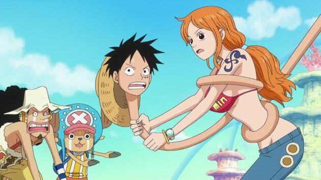 One Piece - Episode 573 - Finally Time to Go! Goodbye, Fish-Man Island!