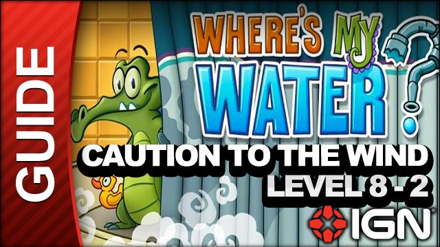 Where's My Water? - Caution to the Wind - Level 8-2 On With the Wind - Walkthrough
