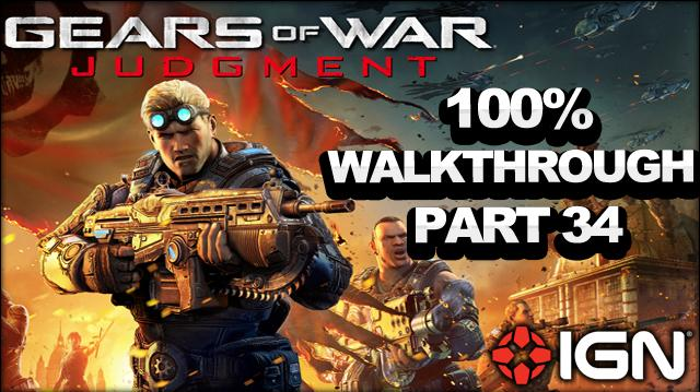 Gears of War Judgment Walkthrough - Museum Square Rooftops - Declassified Mission and Cog Tag (Part 34)