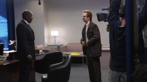 The Dark Knight (2008) - Behind the scenes Gary Oldman as James Gordon