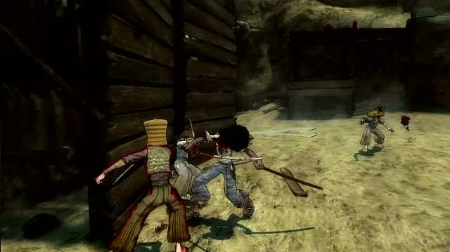 Afro Samurai PlayStation 3 Gameplay - Split Body Parts