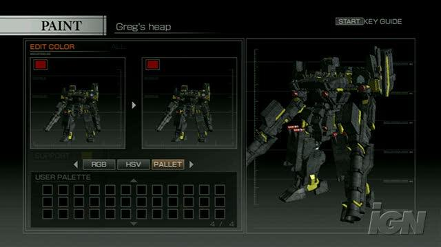 Armored Core 4 PlayStation 3 Gameplay - Look at everything you can do!