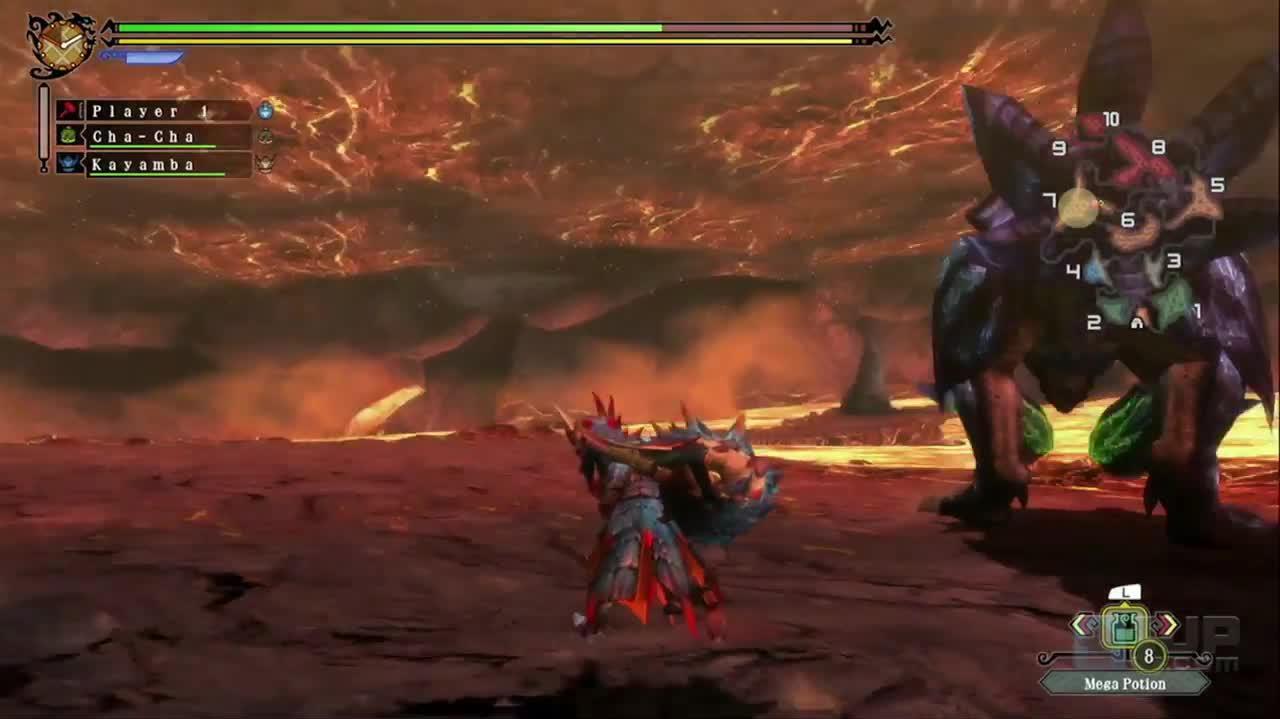 Monster Hunter 3 Ultimate Brachydios Battle