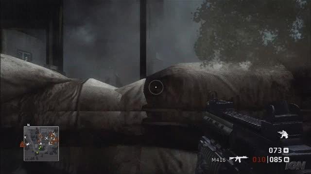 Battlefield Bad Company Xbox 360 Gameplay - Destructable Wall (HD)