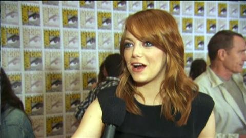 The Amazing Spider-Man (2012) - Interview Emma Stone at Comic-Con