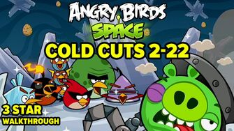 Angry Birds Space Cold Cuts Level 2-22 3-Star Walkthrough
