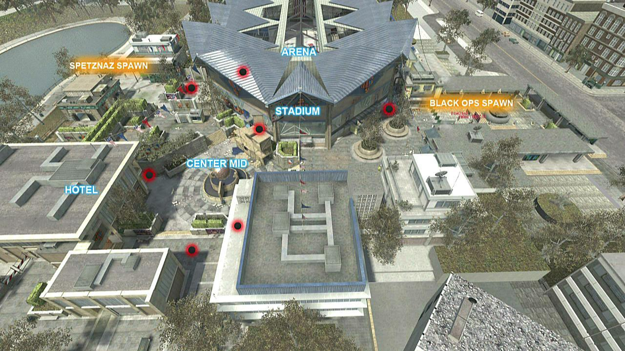 Call of Duty Black Ops Map Walkthrough - Stadium