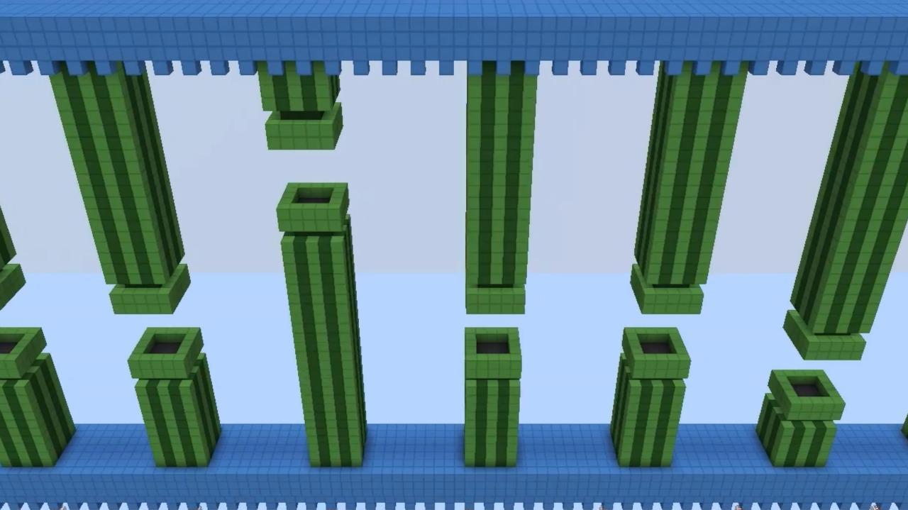 Flappy Bird Recreated in Minecraft