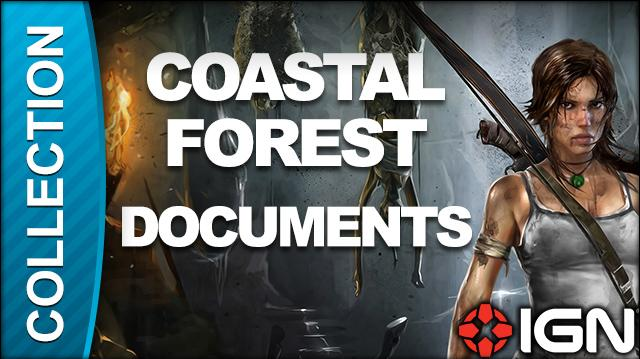Tomb Raider Walkthrough - Document Locations Coastal Forest