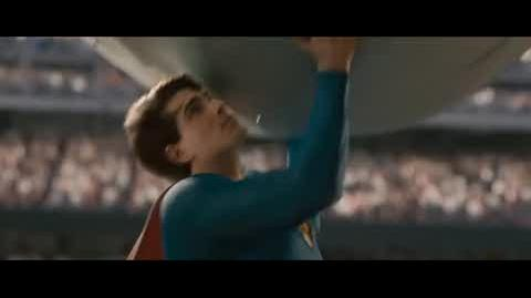 Superman Returns - Superman lands the airplane