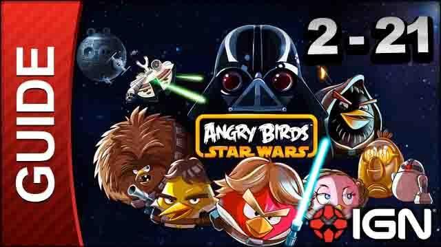 Angry Birds Star Wars Death Star Level 2-21 3 Star Walkthrough