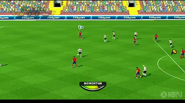 2010 FIFA World Cup South Africa Nintendo Wii Gameplay - Spain vs