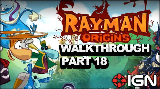 Rayman Origins Walkthrough - Gourmand Land Aim for the Eel! (Part 18)