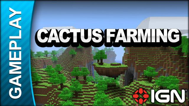 Minecraft - Cactus Farming - Gameplay