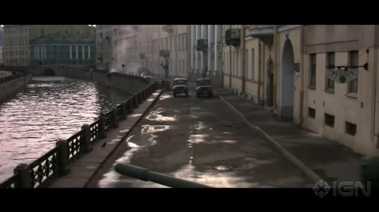 Bond 19 Tanking Through St Petersburg (Goldeneye)