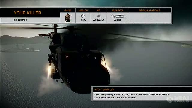 Battlefield Bad Company 2 Xbox 360 Gameplay - Helicopter Attack