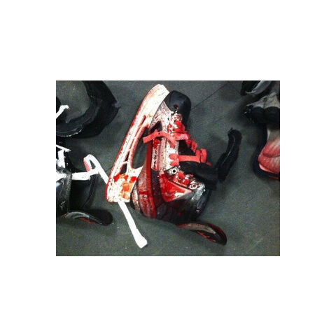 Bloody skate used during fight