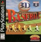 3D Baseball Video Game Cover