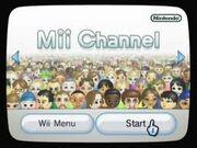 Mii Channel Start