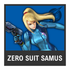 Super Smash Bros. Strife character box - Zero Suit Samus