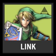 Super Smash Bros. Strife character box - Link