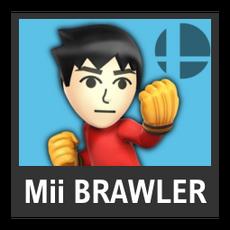 Super Smash Bros. Strife character box - Mii Brawler
