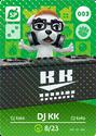 DJ KK - AC amiibo card
