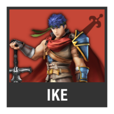 Super Smash Bros. Strife character box - Ike