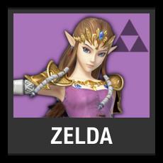 Super Smash Bros. Strife character box - Zelda