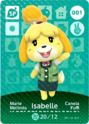 Isabelle - AC amiibo card