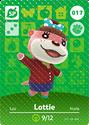 Lottie - AC amiibo card