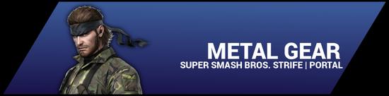SSBStrife portal image - Metal Gear