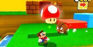 Small Mario Getting Mushroom