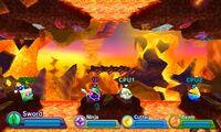 Kirby Fighters Deluxe - Haldera Volcano