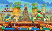 Kirby Fighters Deluxe - Waddle Dee Train Tracks