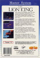 The Lion King portada MasterSystem BRA-b