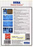 Speedball 2 contraportada Master System